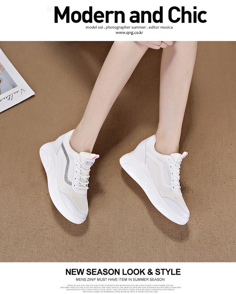 2020春季内增高女鞋小白女2019新款白色百搭运动鞋休闲鞋加绒冬季商品详情图