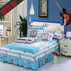 Children's cotton bed skirt cute cartoon boy 100% cotton bedspread girl single 1.8 1.5 meters 1.2m bed