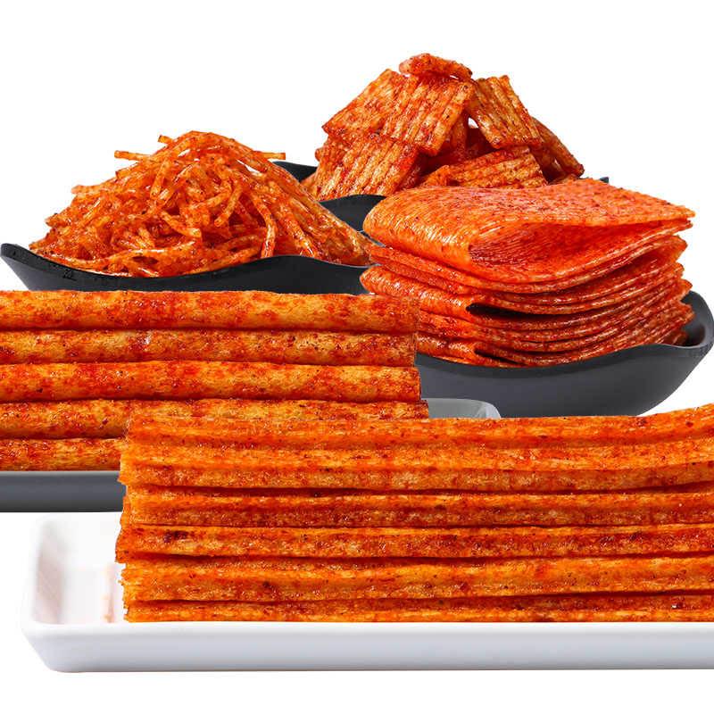 湖南特产网红辣条大礼包零食儿时休闲食品香辣味小吃休闲食品辣片