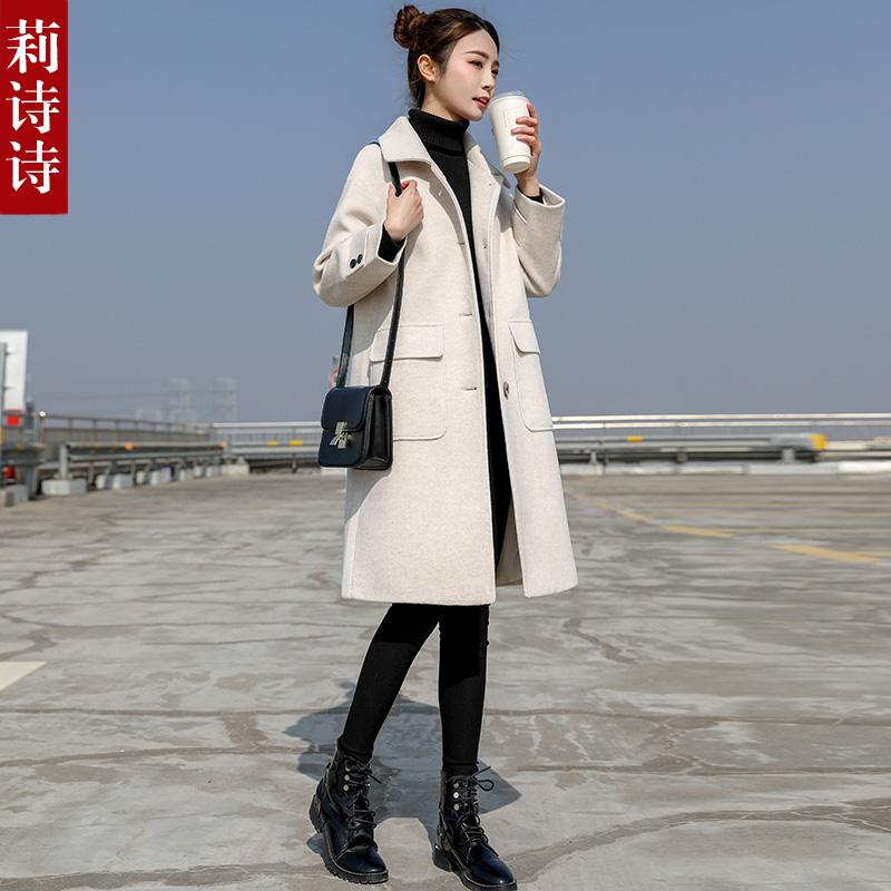 小个子中长款赫本风毛呢外套女韩版学生2019秋冬新款流行呢子大衣11月16日最新优惠