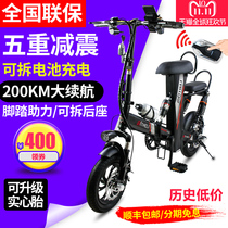 Power electric vehicle small folding electric bicycle double male and female generation