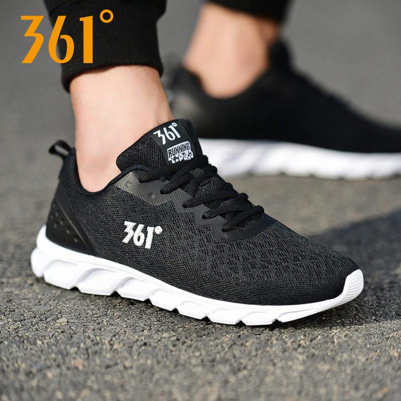 【361°】新款男网面透气跑鞋休闲鞋