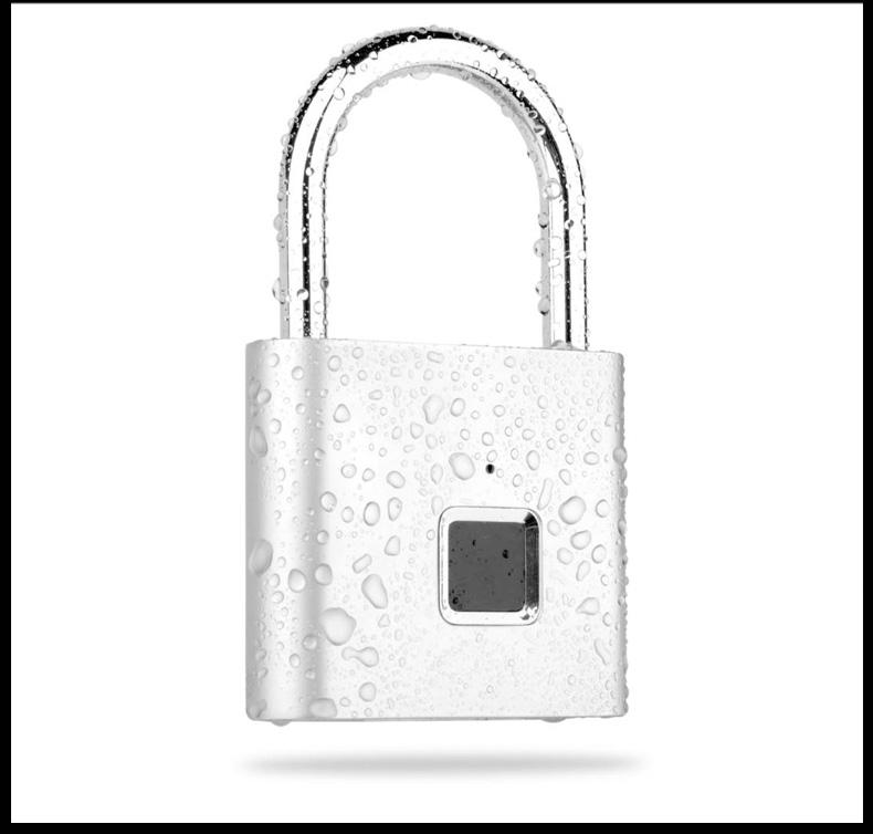 ZUCON 指纹挂锁智能电子锁房屋锁车锁柜子锁学生宿舍防盗锁抽屉锁