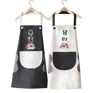 可愛日系韓版防水防油圍裙