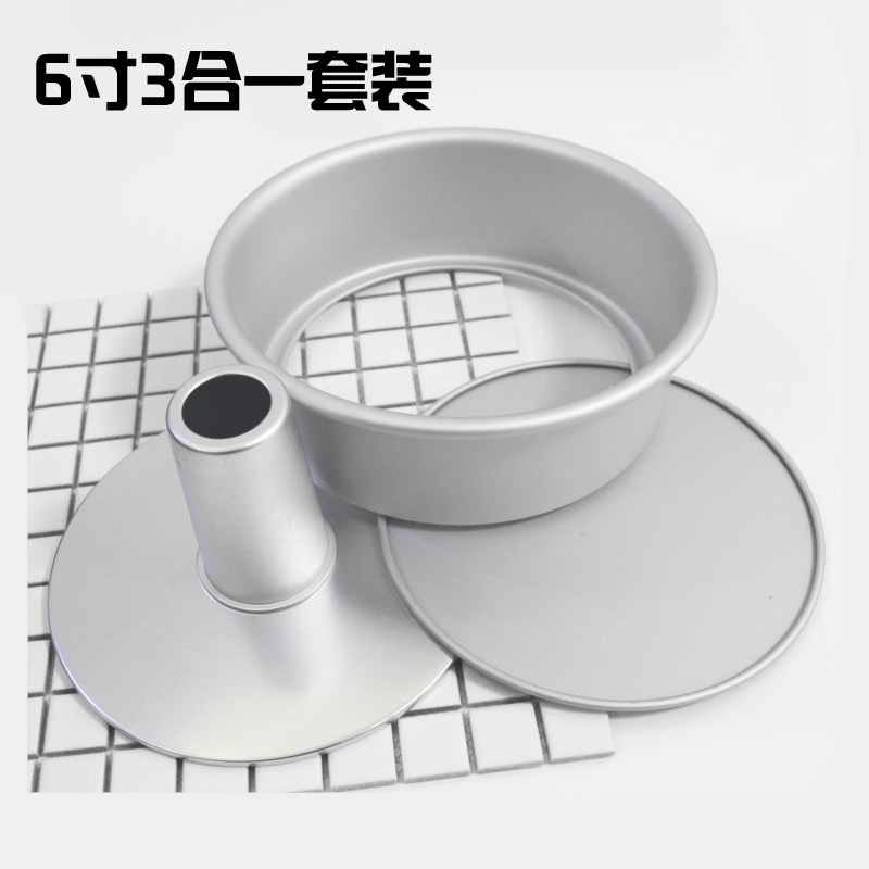 6 inch hollow cake mold 3 in one send release knife