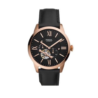 【双11预售加购】Fossil化石手表男士新款镂空三眼表盘牛皮机械表