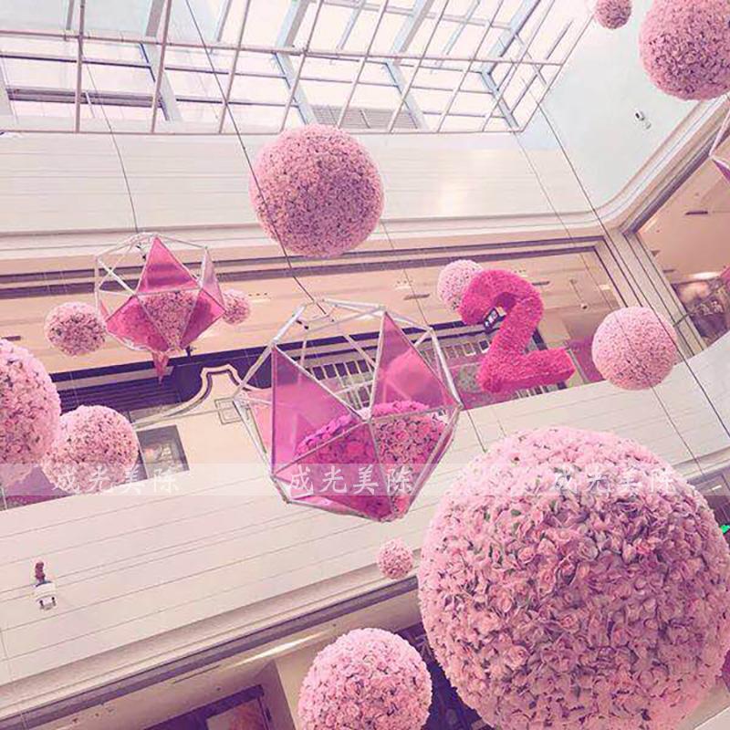 夏季美陈卖场商场吊饰大型布置春天4s店展厅中庭装饰挂饰亮化创意