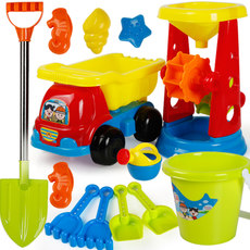 Children's beach toys set play sand dredging tool hourglass shovel male and female baby Cassia toy Sha Jianxiong