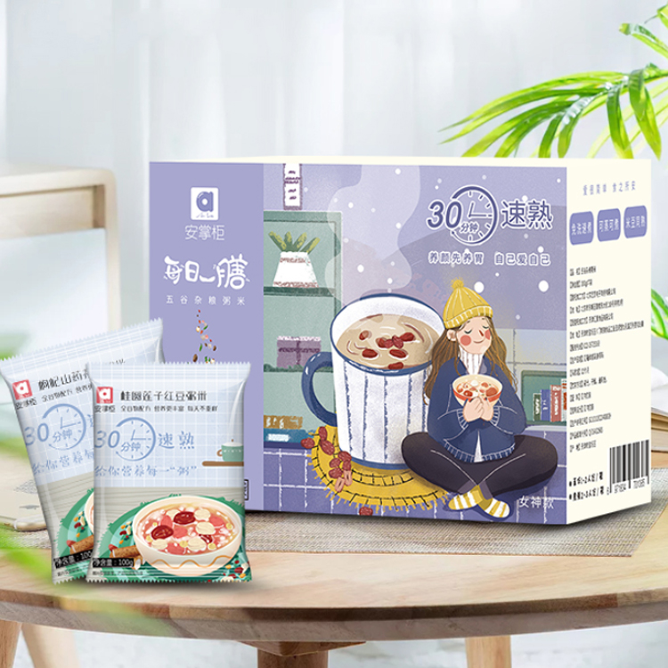 【两倍购】安掌柜五谷杂粮粥*14袋