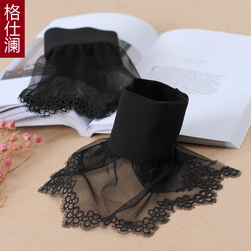格仕澜蕾丝网纱镂空钩花假袖套日韩唯美手腕套喇叭袖装饰假袖子