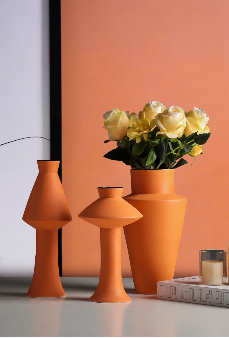 Large ceramic vase northern wind dried flower decoration creative furnishing articles household act the role ofing is tasted the table sitting room of I and contracted flower arrangement