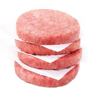 小牛凱西進口牛肉餅漢堡包速凍肉餅餃子餛飩水餃餡餅早餐冷凍牛排