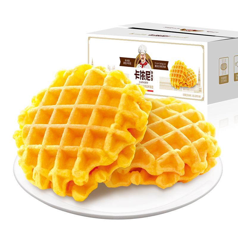 回头客华夫饼500g网红零食糕点面包零食充饥夜宵整箱代餐早餐速食