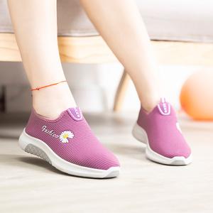 秋季老北京布鞋透气防滑飞织女鞋