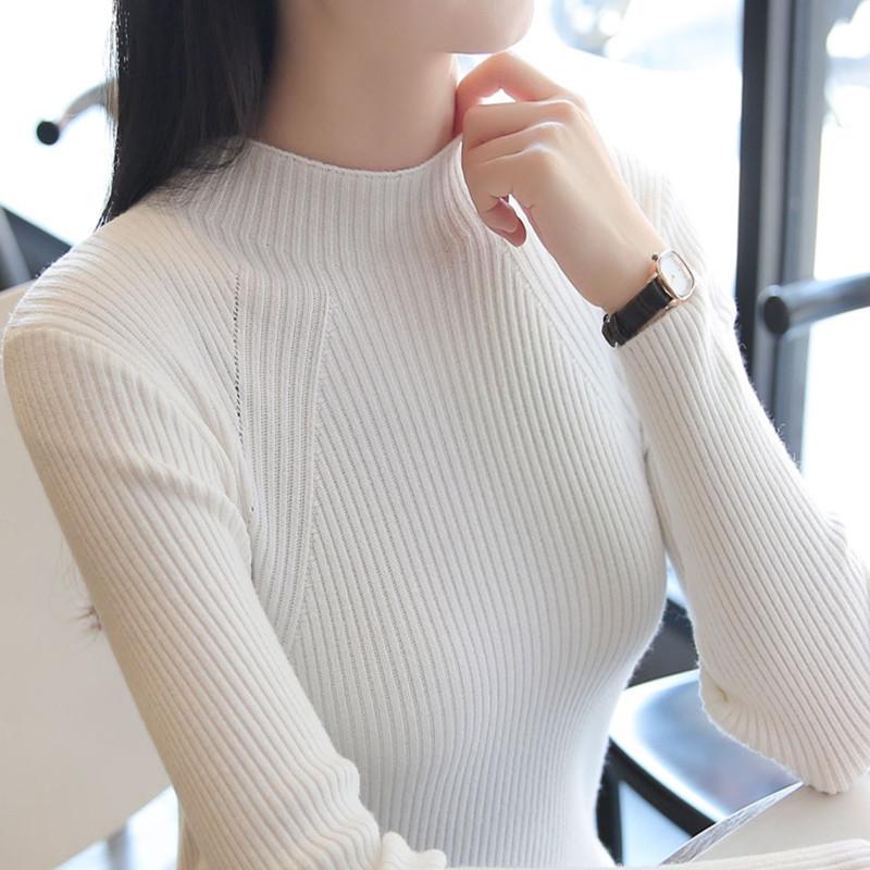 秋冬女士修身加厚针织衫