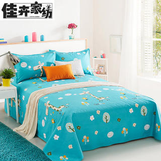 Jiahui thickened 100% cotton old coarse cloth sheets single piece canvas quilt pure cotton 1.5m1.8 meters bed clearance