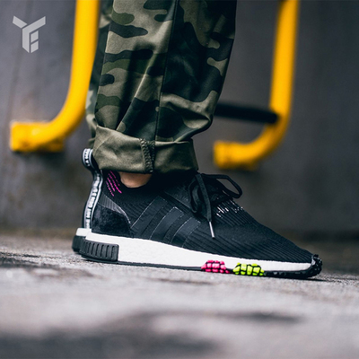 50d290af5f9e0 Adidas NMD RACER PK new clover women BOOST running sports shoes CQ2441