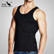Kangaroo vest nam thể thao chặt chẽ đáy áo mùa hè căng vest Slim thanh niên tập thể dục chạy áo triều