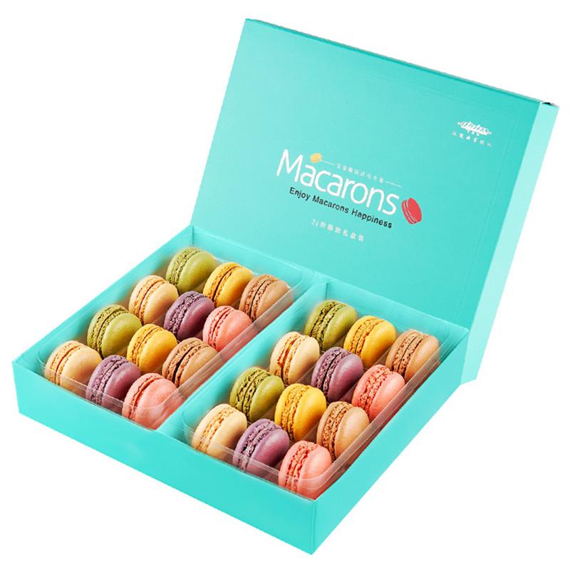艾菲勒法式马卡龙甜点24枚西式糕点蛋糕甜品零食品小饼干礼盒新年
