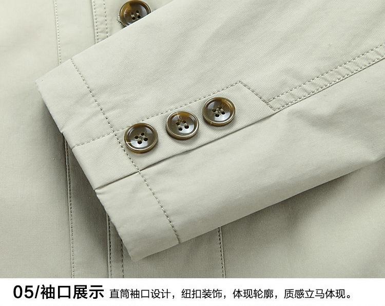 Mùa xuân và Mùa Thu Mới Trung Niên Bông Áo Khoác Nam Mỏng Daddy Trung Niên của Nam Giới Ve Áo Buttons Casual Áo Khoác Nam