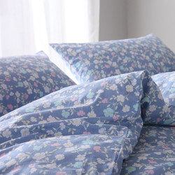 Single piece of pure cotton simple plain blue flower small fresh 1.21.5m2.0 meter bed cotton twill quilt student
