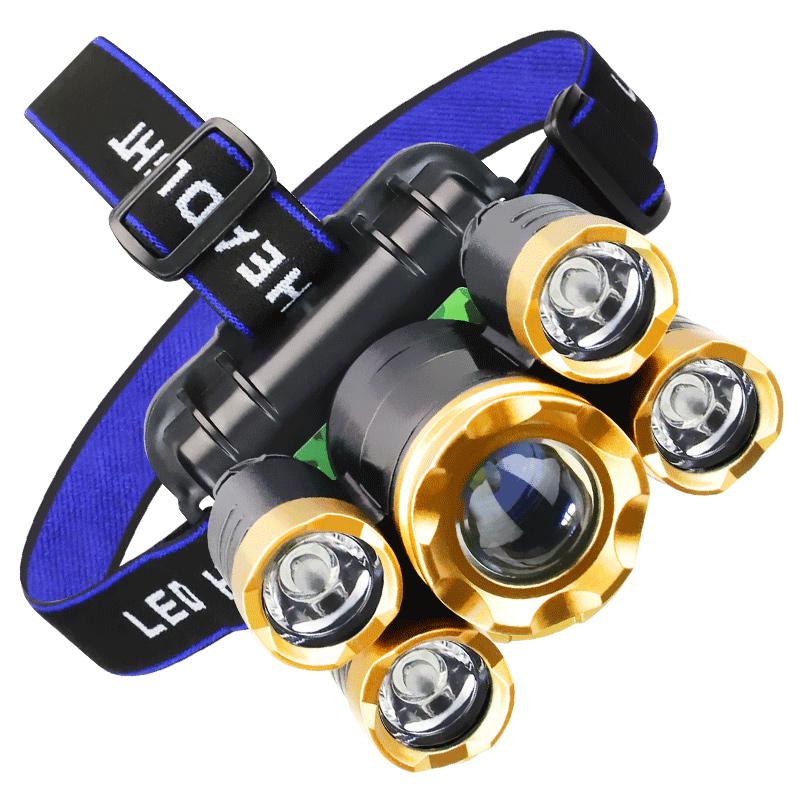 头灯强光充电超亮头戴式感应手电筒夜钓鱼灯米氙气灯防水LED户外