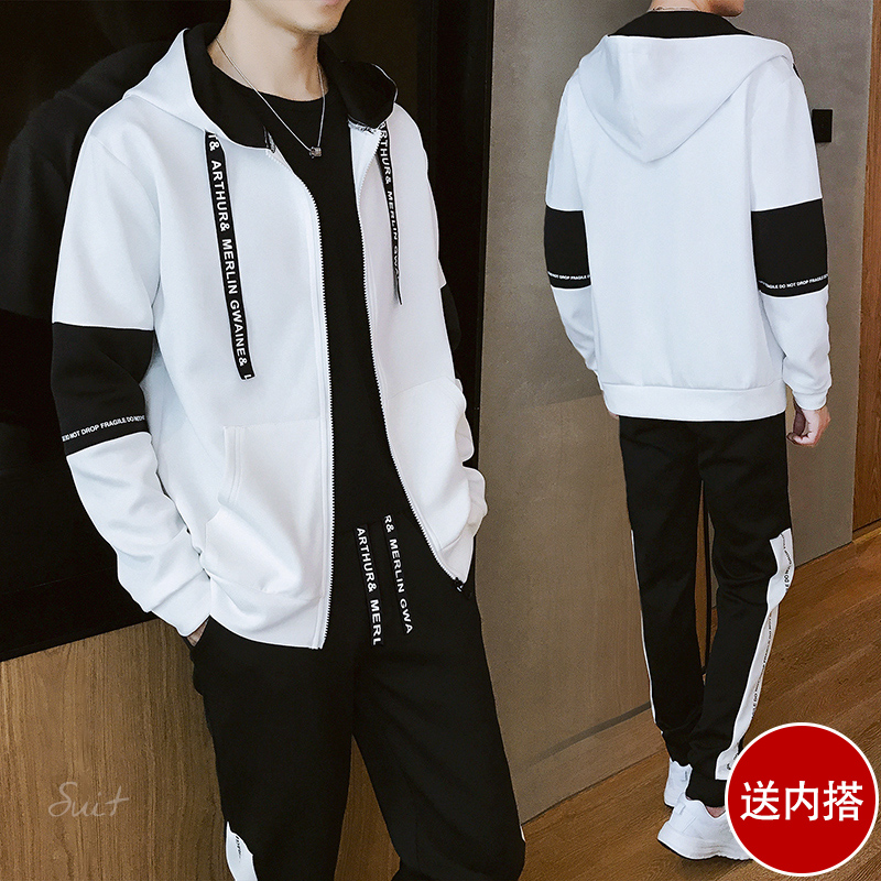 ce10064bd Sweater suit men spring and autumn 2019 new Korean version of the trend of  students hoodie ...