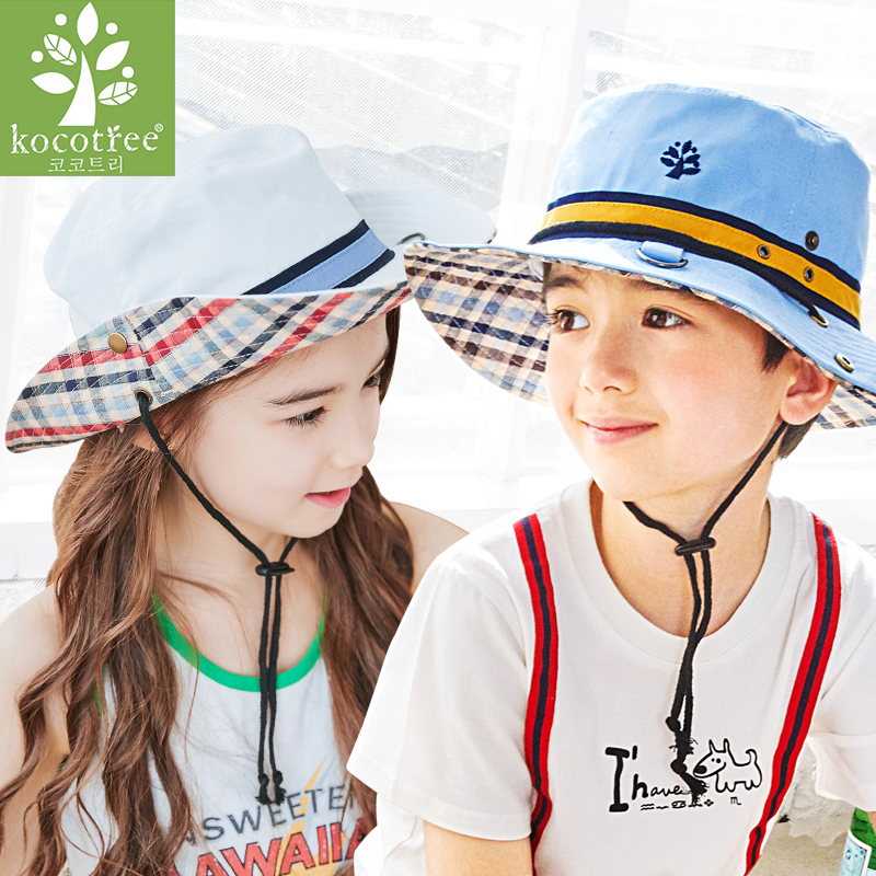 b0c8d9589f6 Children s hat boys sunscreen fisherman hat baby summer thin section sun  hat girls sun hat UV