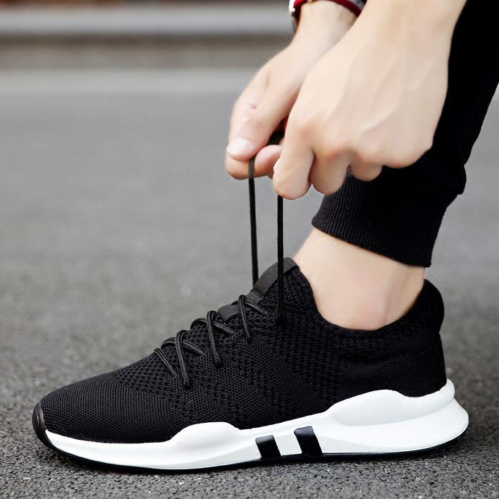 夏季网鞋男士运动休闲跑步潮鞋韩版潮流百搭男鞋网面板鞋透气布鞋