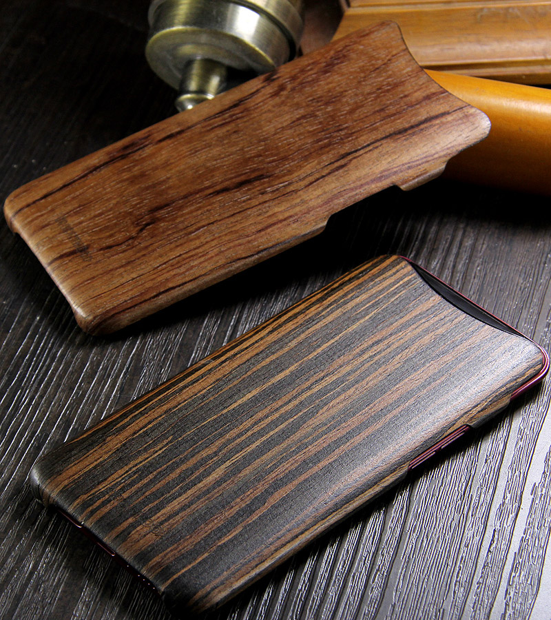 SHOWKOO Kevlar Natural Wood Ultra Slim Case Cover for OPPO Find X