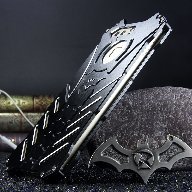 R-Just Batman Shockproof Aluminum Shell Metal Case with Custom Stent for Huawei P9