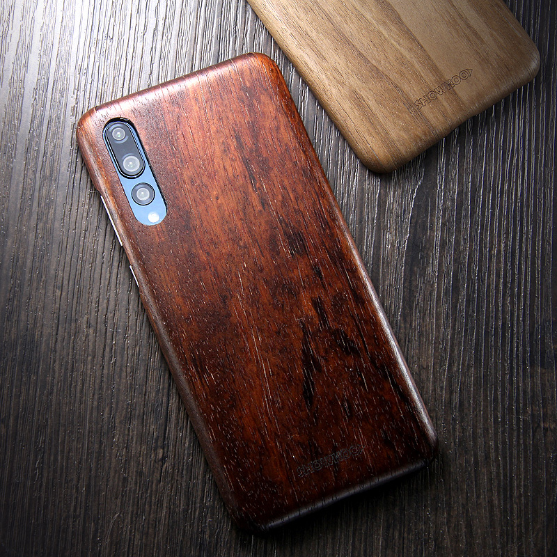 brand new b8b84 3b833 SHOWKOO Kevlar Natural Wood Ultra Slim Case Cover for Huawei P20 ...