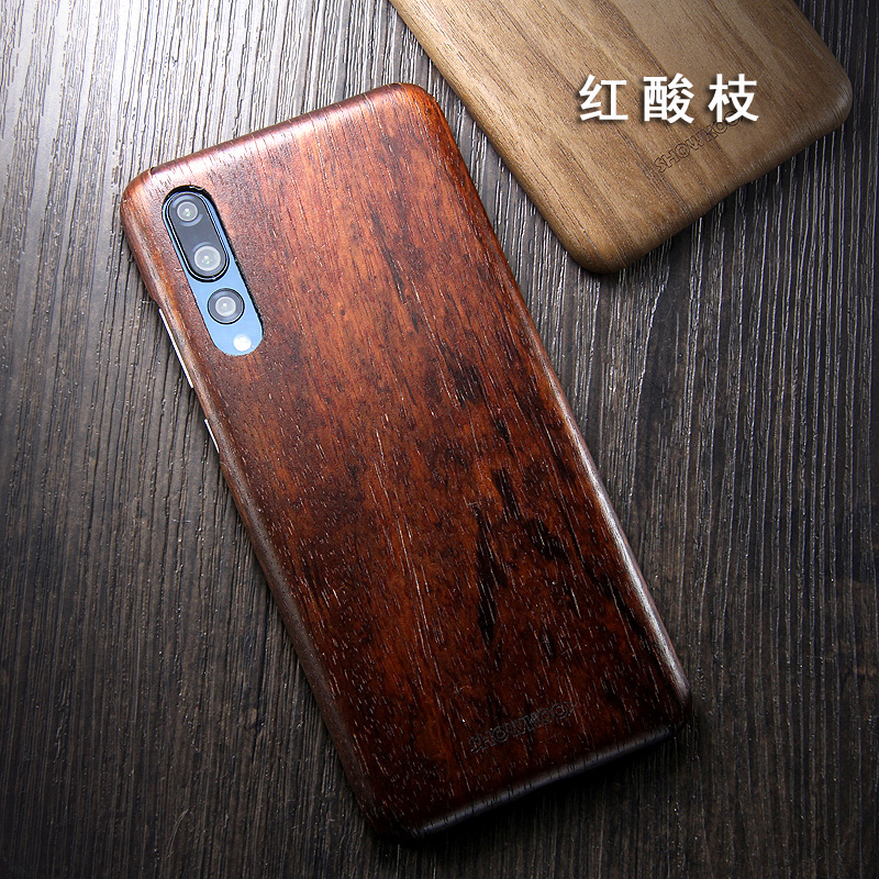 SHOWKOO Kevlar Natural Wood Ultra Slim Case Cover for Huawei P20 & Huawei P20 Pro