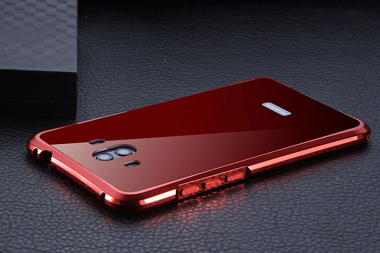 iy Rainbow Super Drop-proof Aluminum Metal Bumper Dazzle PC Back Cover Case for Huawei Mate 10 & Huawei Mate 10 Pro