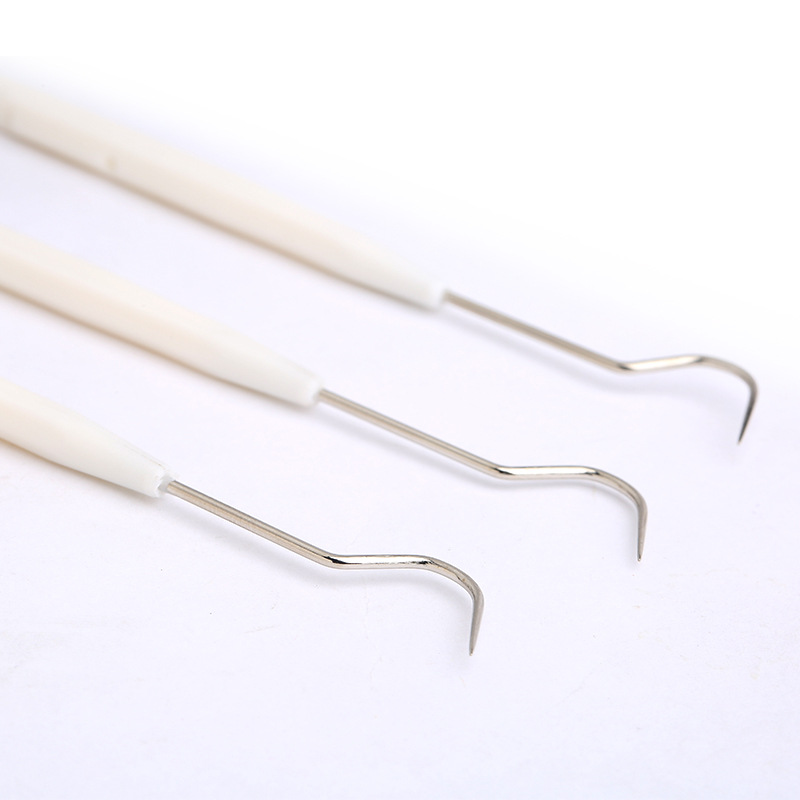 Picky sâu walnut đôi đầu wenwan kim xử lý công cụ thép không gỉ chọn kim nhựa khoảng cách móc làm sạch - Công cụ & vật liệu may DIY