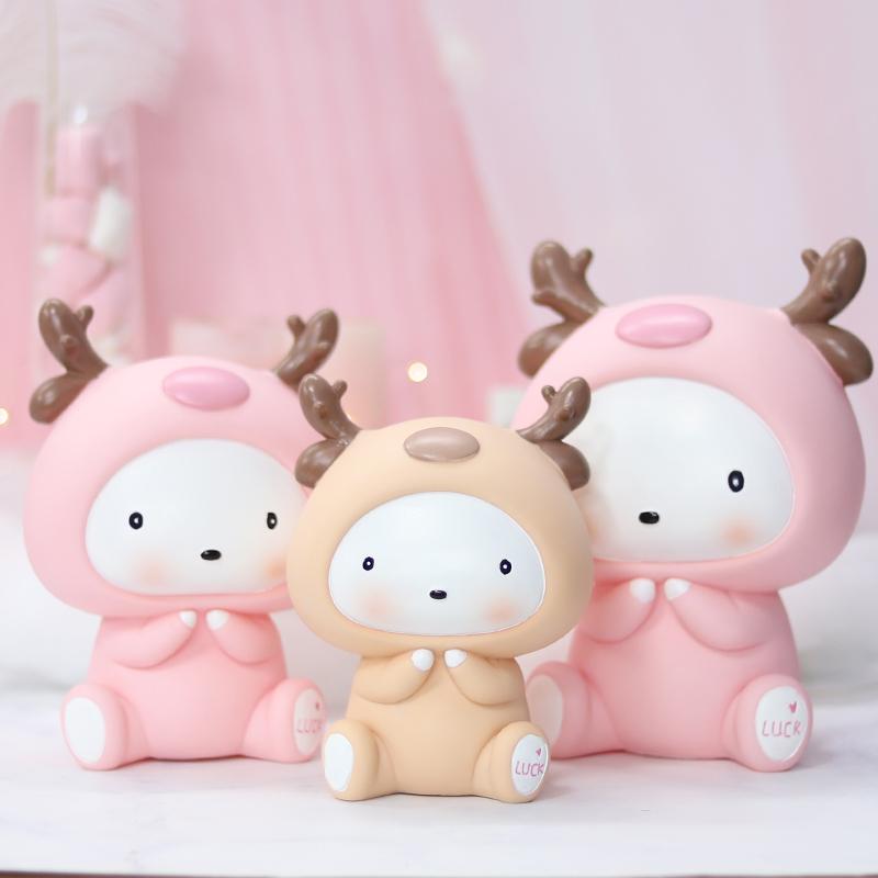女童存钱罐女生创意可爱少女心粉色公主小儿童储蓄罐卡通网红韩国