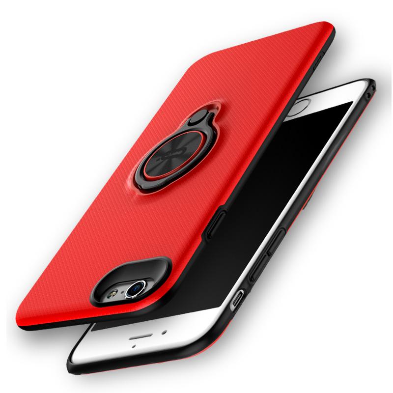 苹果6splus手机壳带指环扣支架透明超薄iphone6保护套s六男女款