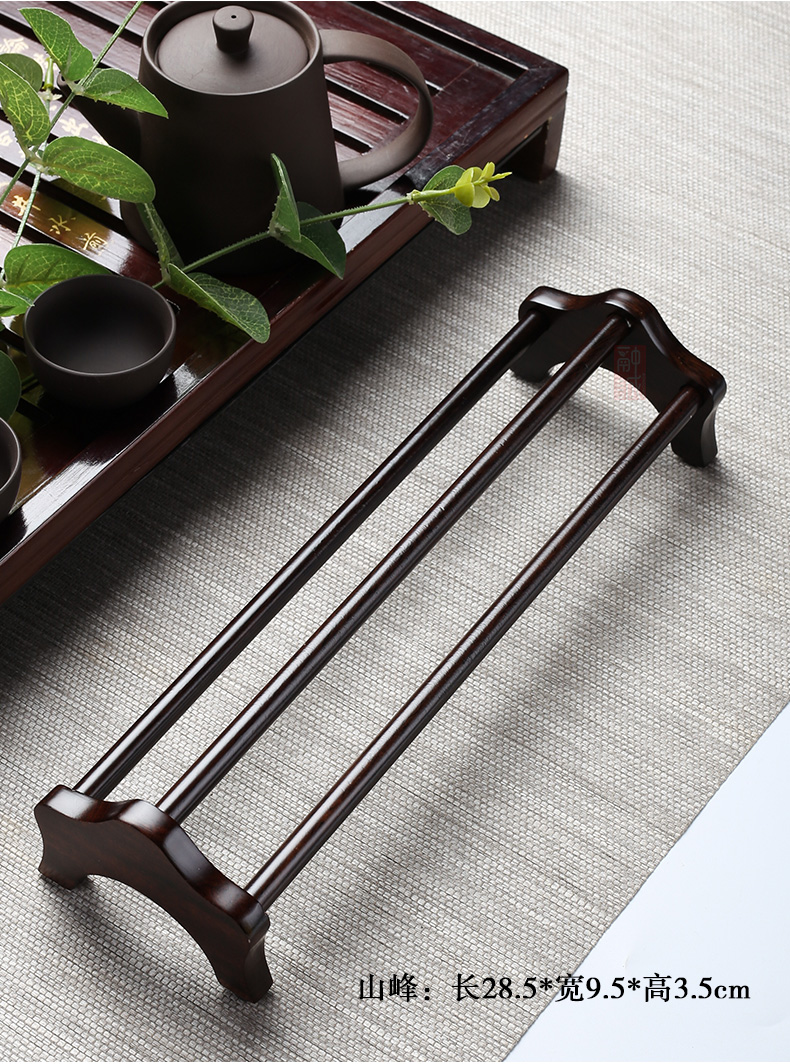Ebony receive cup rack single solid wood drying shelf crossover vehicle cup tea set waterlogging under caused by excessive rainfall cup tea accessories