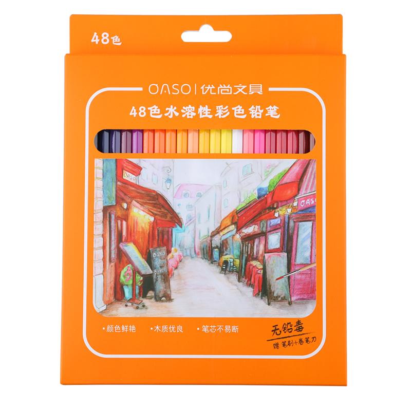 oaso优尚铅笔旗舰店彩色专业画笔364872色手绘秘密花园填色官方套装水溶性彩铅
