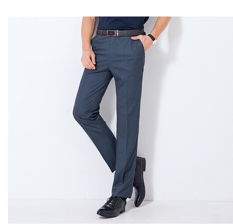 Van Nussi mùa hè mới trung niên kinh doanh bình thường quần miễn phí quần nóng lỏng thẳng quần nam cao eo quần