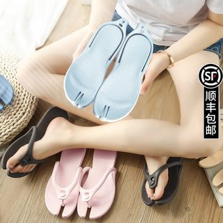 Travel portable foldable slippers for men and women on business trips and travel artifacts non-slip swimming beach shoes flip flops bath sandals