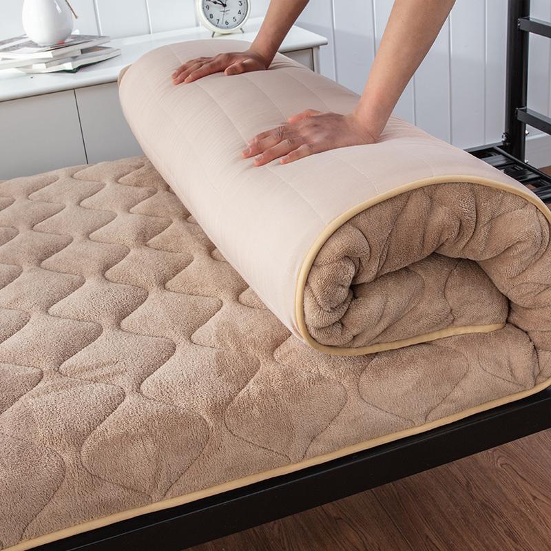 珊瑚绒家用宿舍1.5m床床垫褥子1.8米榻榻米1.2单人学生软垫海绵垫