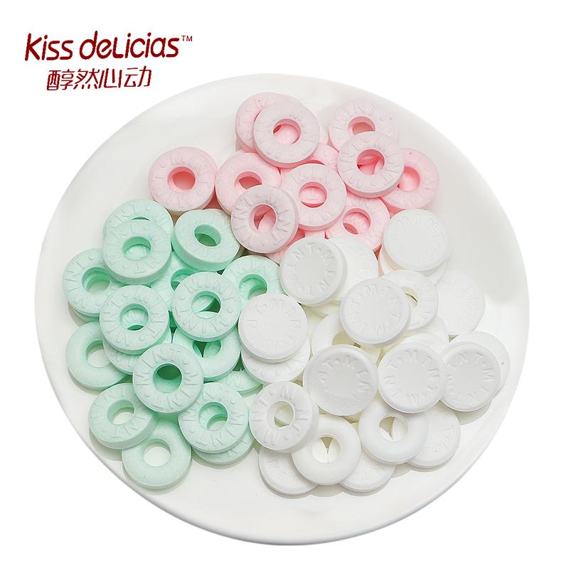 海億kiss醇然心動薄荷糖海鹽百香果口香糖網紅親嘴糖接吻糖果散裝