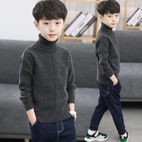 Детское на мальчика Свитер пуловер замшевый утепленный осень-зима Загрузка 2019 новая коллекция Средний размер детские корейская версия Иностранный стиль высокая воротник