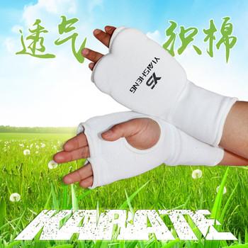 Защитные накладки, шлемы,  Поляк действительно может пустой рука дорога кулак пустой рука дорога защитное снаряжение пальцев два ряда и относится к удар перчатки тхэквондо рукавицы, цена 847 руб