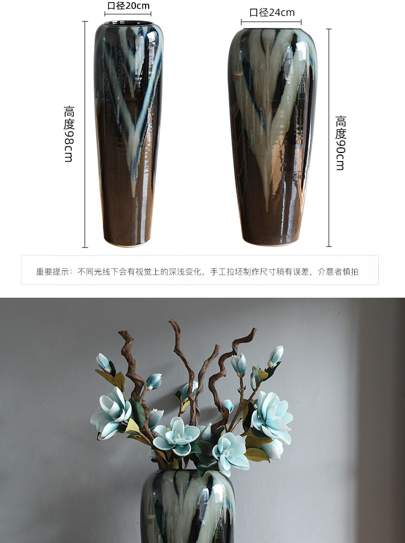 Modern contracted jingdezhen ceramic vase furnishing articles sitting room ground European new Chinese vases, flower arranging furnishing articles