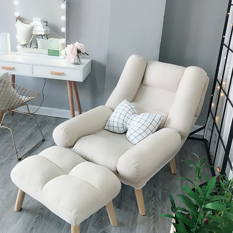 Magnificent Lazy Single Sofa Chair Small Family Sized Balcony Small Sofa Bedroom Feeding Chair Reading Leisure Sofa Back Lounge Chairs Ocoug Best Dining Table And Chair Ideas Images Ocougorg