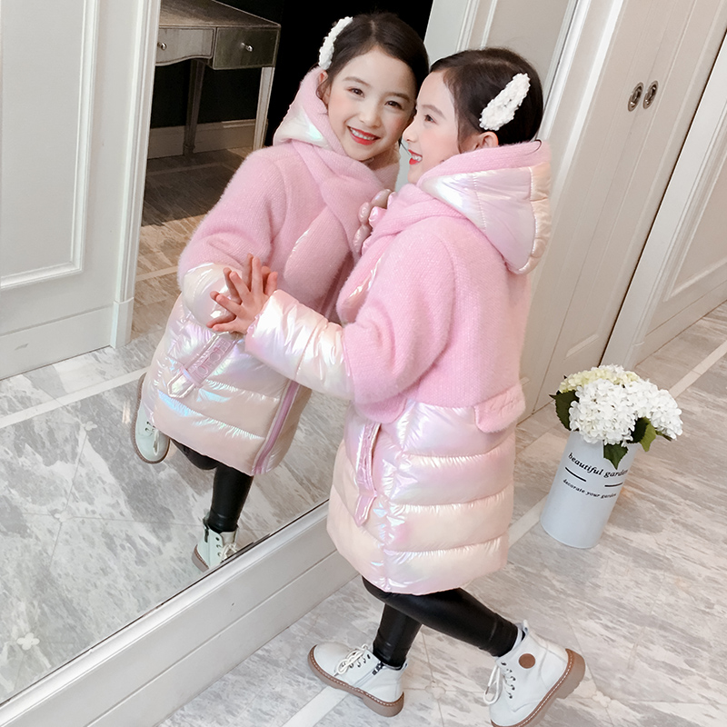 Girls cotton clothing 2019 new foreign air winter clothing children's coat girl sand-thick cotton wool children's clothing plus down down down cotton clothing