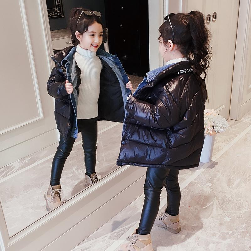 Девочки зима подбитый 2019 новый западный стиль ребятишки девочка краткое модель ватник отпуск ребенок зима хлопок 606360690477