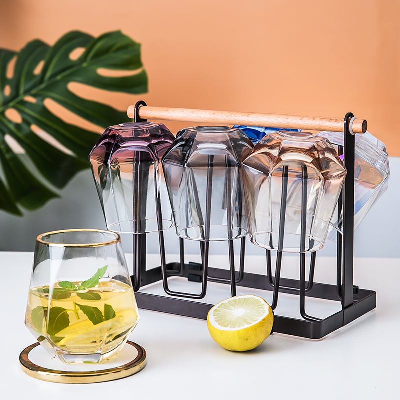 【ins风6只】玻璃杯家用啤酒杯水杯茶杯